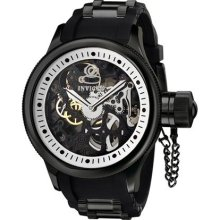 Invicta Men's 1091 Russian Diver Mechanical Skeleton Dial Black Poly. Watch