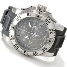 Invicta Men's Excursion Swiss Made Quartz Chronograph Stainless Steel Case Strap Watch GREY