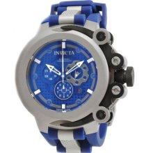 Invicta Men's Stainless Steel Force Chronograph Swiss Quartz Blue Dial Strap 0957