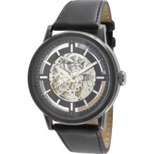Kenneth Cole New York KC1632 Skeleton Dial Automatic Analog Leather Strap Watch