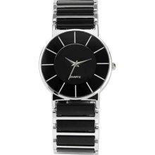 Lady Women Casual Black Dial Bracelet Analog Quartz Sport Wrist Watch Gbh