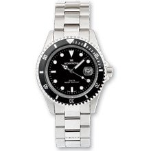 Mens Mountroyal Stainless Steel Divers Wrist Watch