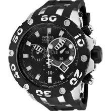 Men's Reserve Diver Chronograph Swiss Quartz Black Dial Strap