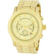 Michael Kors Men's Gold Tone Quartz Date Chronograph Link Bracelet MK8077