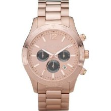 Michael Kors Mk8186 Rose Gold Tone Quartz Date Chronograph Link Bracelet
