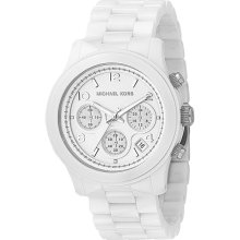 Michael Kors White Dial White Ceramic Bracelet Oversized Watch MK5163