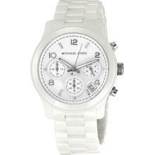 Michael Kors White Dial White Ceramic Bracelets Midsized Ladies Watch MK5161