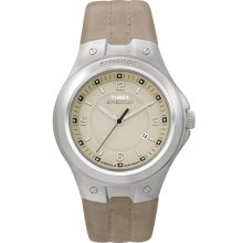 4f407231c New TIMEX Expedition Metal-Tech Mens Ladies Quartz Steel Watch Beige  Leather - Beige - Leather
