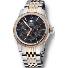 Oris 58176274364MB Watch Aviation Big Crown Mens - Black Dial Stainless Steel Case Automatic Movement