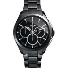 Rado Hyperchrome Automatic Chronograph 45mm Watch - Black Dial, Black Ceramic Bracelet R32275152 Sale Authentic