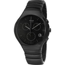Rado True Thinline Jubile 38.5mm Watch - Black Dial, Black Ceramic Bracelet R27741702 Sale Authentic