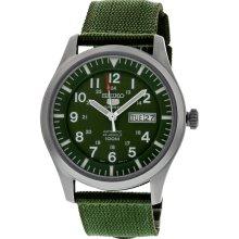 Seiko 5 Sport Automatic Khaki Green Canvas Mens Watch SNZG09