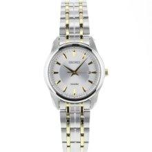 Seiko Silver Dial Two-tone Stainless Steel Ladies Watch SXDE67