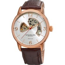 Stuhrling Original Mens 1074 3345k2 Classic Auto Delphi Huntsman Skeleton Watch