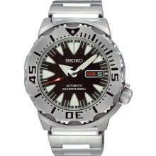 Superior Diver Stainless Steel Case and Bracelet Black Dial Automatic Day and Da