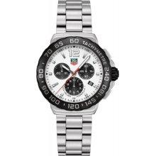 Tag Heuer Formula 1 Chronograph White Dial Stainless Steel Mens Watch CAU1111.BA0858