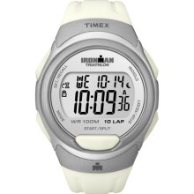 Timex Men's T5K609 Ironman Traditional 10-Lap White/Silvertone Watch (Timex Ironman Traditional 10-Lap T5K6099J)