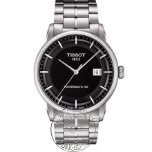Tissot Classic wrist watches: Luxury Automatic Black Dial t086.407.11.