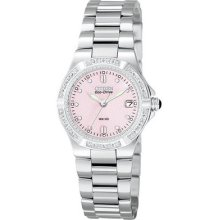 Womens Citizen Eco Drive Riva Watch with Diamonds in Stainless Steel (EW0890-58X)
