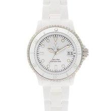Women's toywatch mini white plasteramic watch. fls08wh