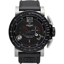 Zodiac ZO8552 Watch Adventure Mens - Black Dial Stainless Steel Case Swiss Quartz Movement