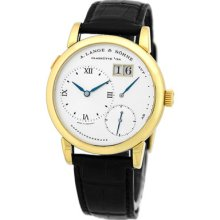 A. Lange & Sohne Lange 1 18k Yellow Gold Silver Dial Power Reserve Lange One