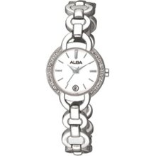 Alba Quartz Ladies Swarovski Crystal Dress Watch AXT127X1