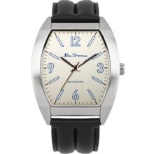 Ben Sherman Men's Quartz Watch With Beige Dial Analogue Display And Beige Leather Strap R916