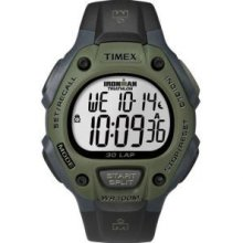Black-Dark Green, One-Size - Timex Men Ironman 30-Lap Full Size Watch
