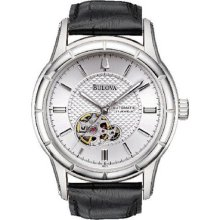 Bulova Mechanical Automatic 21 Jewels Silver Dial Mens Wrist Watches 96a111