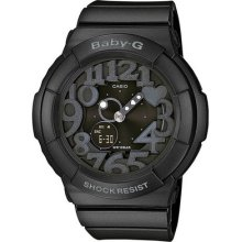 Casio Baby-g Analog Digital Black Resin Strap Ladies Watch Bga131-1b