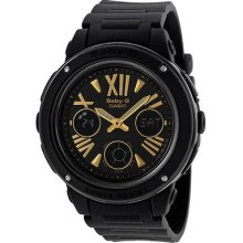 Casio Baby-g Analog-digital Multi-function Black Resin Ladies Watch Bga153-1bcr
