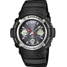 Casio G-shock Awg-m100-1aer Wave Ceptor Tough Solar Combi Black Watch Gift