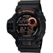 Casio Men's Gdf100-1b G-shock Twin Sensor Multi-functional Black Resin Watch