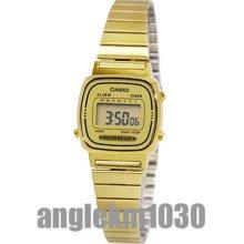 Casio Vintage Retro Classic Gold Plated Ladies Digital Watch La670wga-9d