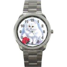 cat women sport metal watch - Silver - 1.5 - Stainless Steel