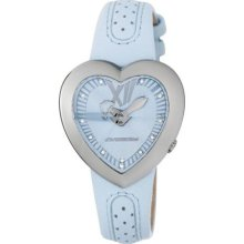 Chronotech Children's Light Blue Dial Heart Shaped Leather Quartz Watch