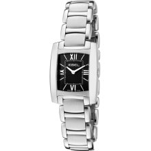 Ebel Brasilia Mini Ladies Black Stainless Steel Swiss Quartz Watch 9976M22/54500