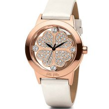 FOLLI FOLLIE Ladies' Heart 4 Heart Rose Gold & White Patent Leather Watch