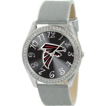 Game Time Black Nfl-Gli-Atl Women'S Nfl-Gli-Atl Glitz Classic Analog Atlanta Falcons Watch