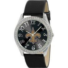 Game Time Black Nfl-Gli-No Women'S Nfl-Gli-No Glitz Classic Analog New Orleans Saints Watch