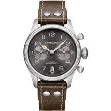 Hamilton H60416583 Watch Khaki Field Mens - Black Dial Stainless Steel Case Automatic Movement