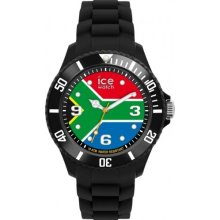 Ice-Watch Unisex Quartz Watch With Multicolour Dial Analogue Display And Black Silicone Strap Wo.Za.B.S.12