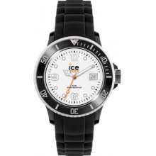 Ice-Watch Women's Quartz Watch With White Dial Analogue Display And Black Silicone Strap Si.Bw.S.S.12