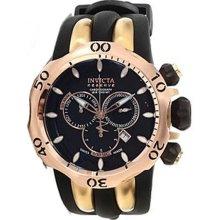 Invicta Men's Reserve Venom Diver Chronograph Stainless Steel Case Rubber Bracelet Black Tone Dial 13916