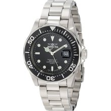 Invicta Pro-diver Classic Black Dial Stainless Steel Nice Date Mens Watch