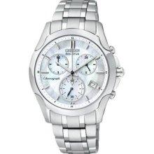 Ladies' Citizen Regent Chronograph Bracelet Mother of Pearl Dial Watch