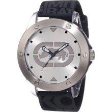 Grey Silicone E09520g7 Watch D Silver Ecko Men's Marc Quartz With v8nN0wm