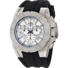 Mens Invicta 1872 Specialty Chronograph Silver Dial Swiss Watch +extra Ss Band