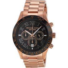 Michael Kors Layton Brown Dial Chronograph Gold-Tone Steel Mens Watch MK8247